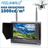 7 inch No glossy screen built-in 32CH 5.8Ghz receiver LCD FPV Monitor manufacture mini helicopter for aerial photo