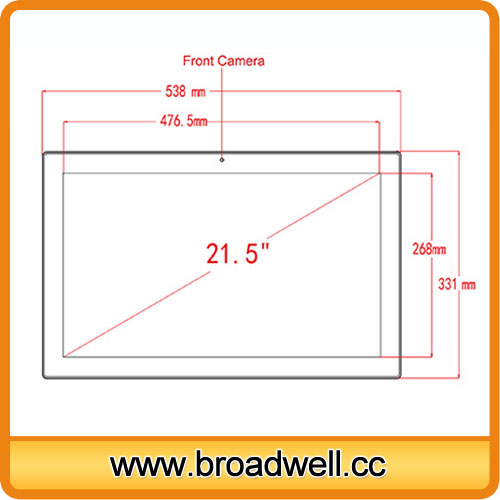 BW-MC2101_1 High Quality 21.5 Inch RK3188 Quad Core Android 4.4  Full HD Capacitive Touch Screen Tablet PC, Digital Photo Frame
