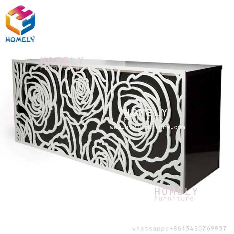 New Design Luxurious White Rose Wedding Bar Hotel Banquet Party Stainless Steel Glass Crystal Rectangle Interactive Bar Table