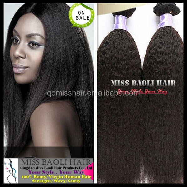 2016 Best Selling Double Weft 100% Human Hair Factory Price Professional Mongolian Kinky Straight Hair