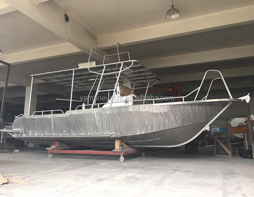 deep V hull 9m welded aluminum pleasure boats for fishing