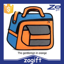 ZOGIFT Fashion Korean Style Blue and Yellow 3d cartoon bags/3d school bag/2d anime school bags and