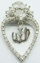 Silver Pendant W / Heart-Shaped Design