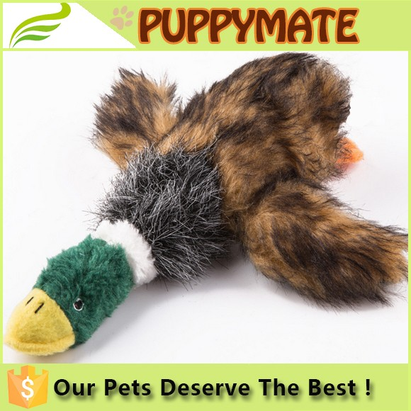 2016 Wholesale new pet toys for pet dog/ Dog stuffing squeaker plush toys duck shape