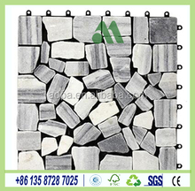 LW-ST01 Natural Stone Tiles Interlocking System, DIY Stone Tiles, Easy-to-Install Stone Tiles