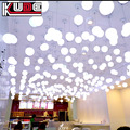rechargeable plastic rgb ball led hanging led light ball