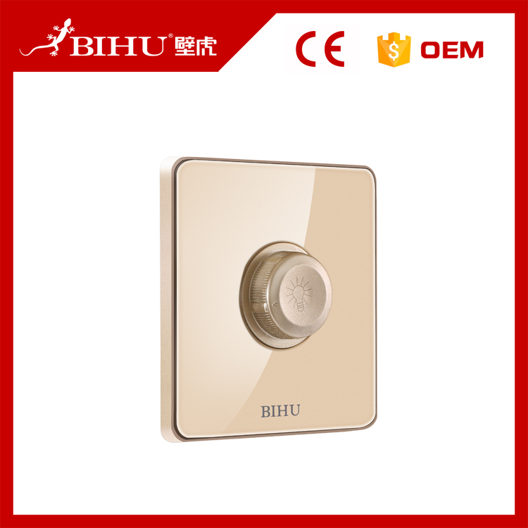 Bihu high quality uk standard light dimmer switch wall mounted single dimmer switch