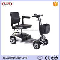 Folding 4 wheel luxury electric mobility scooter