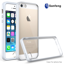 New products 2016 crystal Acrylic TPU cell phone case for iphone se 4 inch case