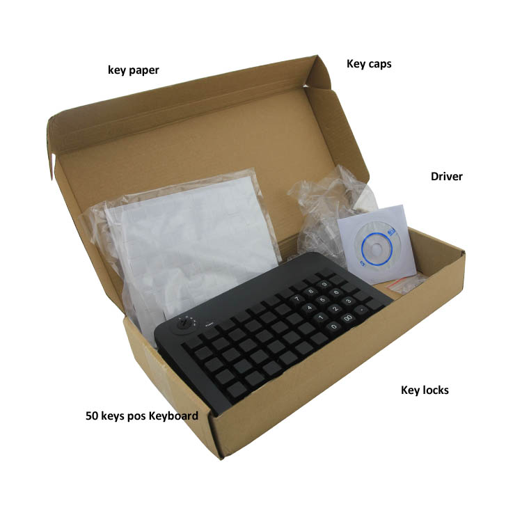 KB-50 50 Keys Programmable Keyboard USB In Pos Systems