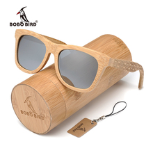 BOBO BIRD Brand Fashion UV Printing Tattoo Silver Polarized Lens <strong>Bamboo</strong> Sunglasses For Women Men As Best Gift With <strong>Bamboo</strong> Box