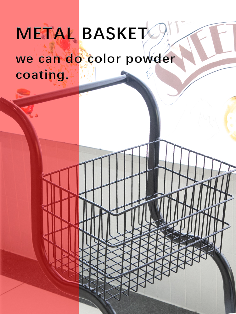 Hand push metal awesome shopping child size shopping cart for hypermarket