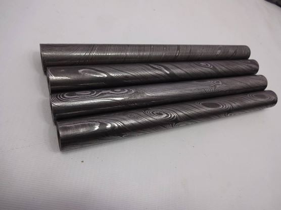 Damascus Steel Round bars