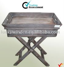 folding wooden tray stand