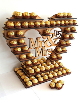Wooden Heart Shape Tree Design Wedding Display Stand
