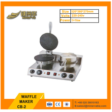 Hotel & Restaurant Supplies Automatic pancake maker machine 1+1KW belgium waffle maker CE Certification