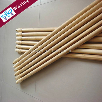 eucalyptus painting wooden mop handle for household cleaning tools