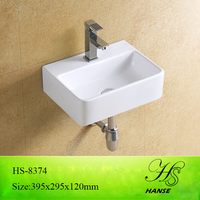 HS-8374 mounted sink corner bathroom/ usefull ceramic vanity wall hung basin/ basin and sink