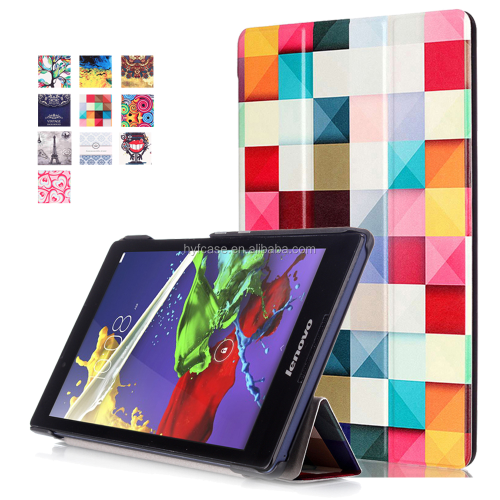 For Lenovo A8-50 Tablet Case, Folio Smart Cover Case For Lenovo tab2 A8-50