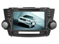 2 Din Touch Screen Car Radio Stereo GPS for TOYOTA HIGHLANDER 2008 DVD GPS Navigation system 8inch Bluetooth USB SD IPOD SWC