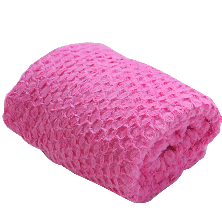 pink color double side pv plush blankets for travelling