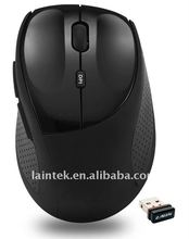 black colour 2.4g RF mini wireless optical mouse with OEM package design
