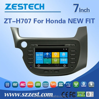 headrest car dvd player for Honda fit new gps navigation system with rearview camera