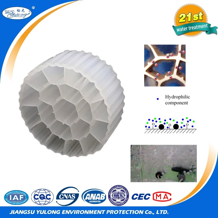 Made in China hdpe bio filter media for waste water mbbr process With Stable Function