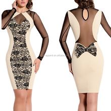 2016 Sexy Women Long Sleeve Bandage Bodycon Dress For Night Club