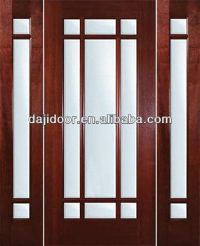 Full lite glass french doors with side panels dj s9012st 1 for Full glass french doors