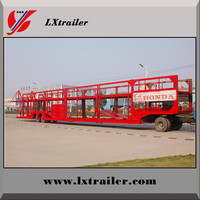 China manufacturer 3 axle car carrier semi trailer with double decks