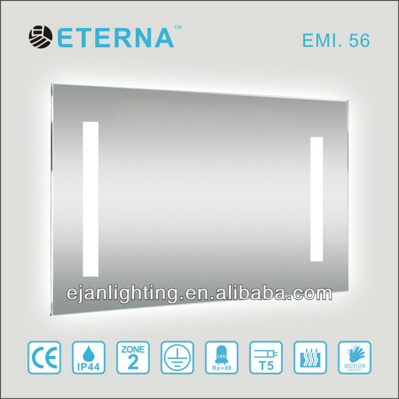 IP44 Hotel Bathroom LED T5 mirror light with glass shelf