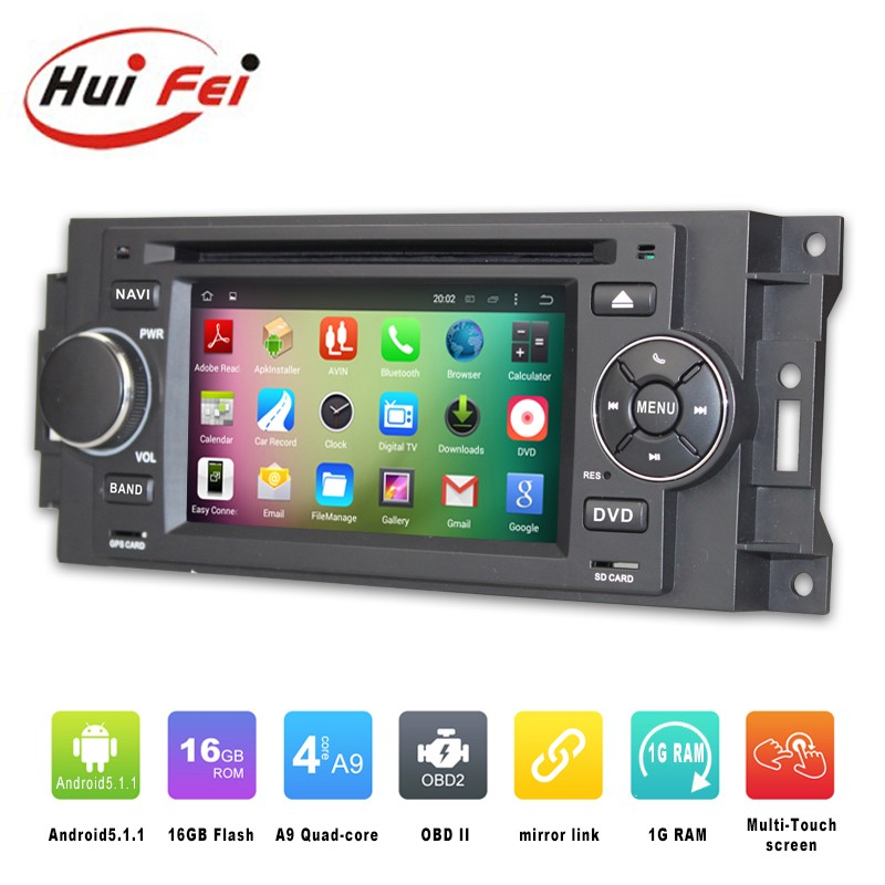 Huifei 2016 Newest In-Dash Multimedia Navigation Pure Android 5.1.1 For Chrysler 300c car dvd player