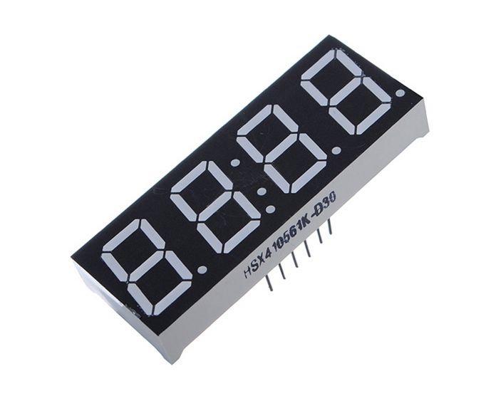 High quality 0.56 Inch 7 Segment 4 Digit Super Red Clock LED Display Common Anode Time 12 Pins For DIY 2 x 0.75 inch