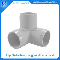 3/4, 1, 1-1/4 inch plastic pvc 3 way elbow pipe fittings