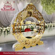 Waterdrop shape gold color acrylic stage descoration wedding backdrop