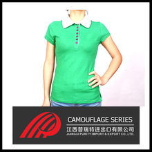 Made in china women Polo shirt different printing method