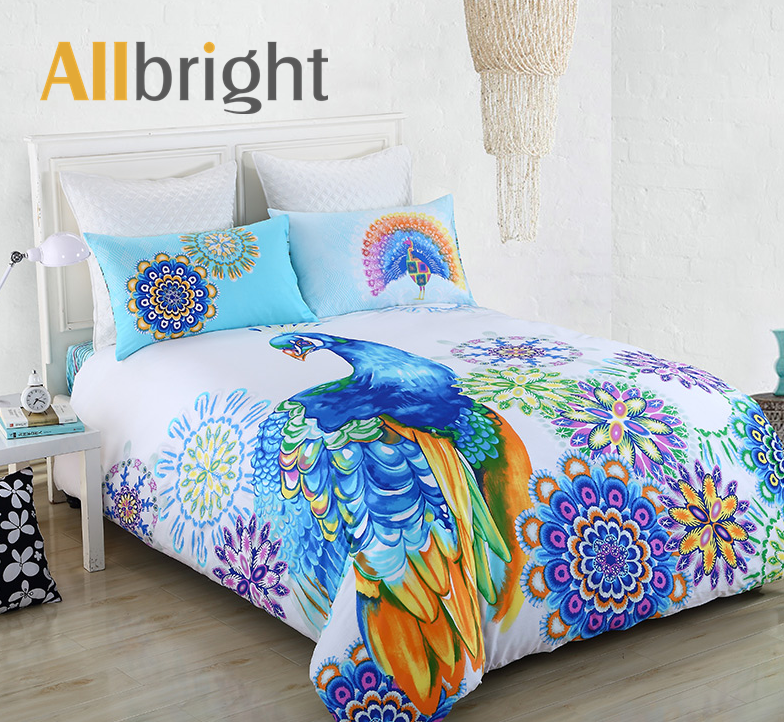 ALLBRIGHT hot selling animal digital textile printing 3d bedding bedroom sets