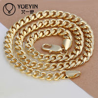 2015 latest jewelry SGS Certified fashion gold plated chain design for men necklace