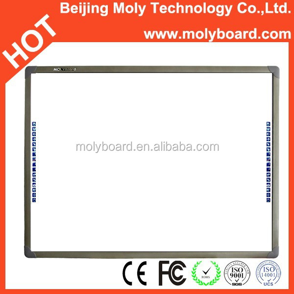 "78"" interactive digital whiteboard smartboard with four users"