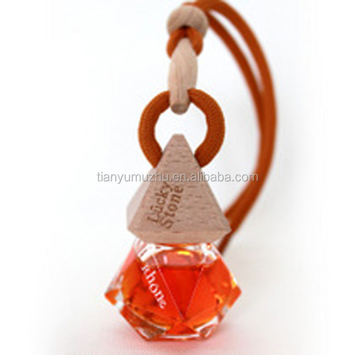 Gel heart shape car glass perfume bottle hanging