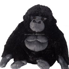 55cm black orangutan soft toy factory price ,funny plush toy wild animals