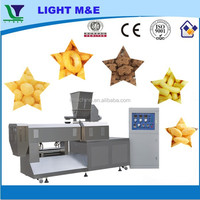 Twin Screw Extruder Ring Cheese Puffs Cereal Food Snacks Machine