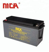 New-tech deep cycle solar storage exide agm battery 12v 150ah