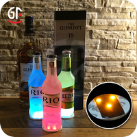 Alibaba Hot Promotional LED Gifts Cheap Colorful Mini Shot Glass Bottle Light Sticker Led Gift