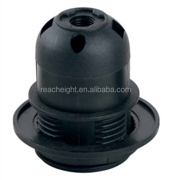 E27 Plastic Lamp Socket With Shade Ring