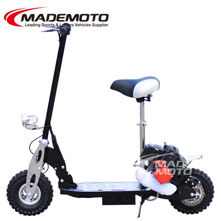 motorized snow scooter gas front & rear disc hand brake