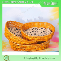 Factory wholesale honey willow/wicker lucky pet/dog bed/basket