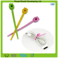 cute shape silicone cable tie silicone tie silicone package tie