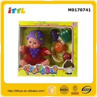 9 inch musical doll,fruit shape musical soft doll M0170741